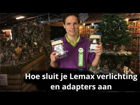 Lemax adapters en verlichting aansluiten in uw Lemax kerstdorp - YouTube