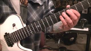 How to play Blood Stained Cross by Arch Enemy on guitar by Mike Gross