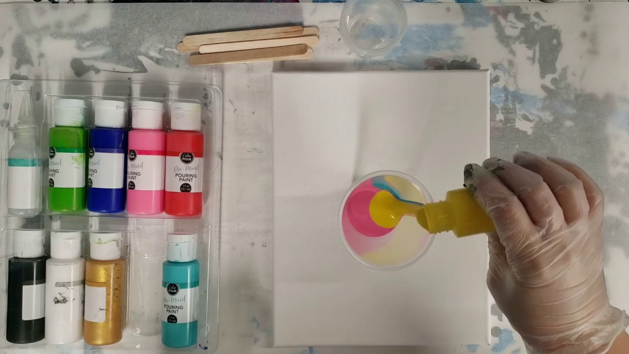 More Experiments With The Hobby Lobby Paint Pouring Kit Youtube