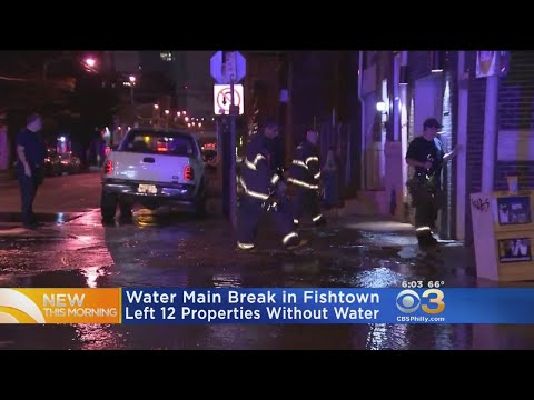 Water Main Breaks In Fishtown