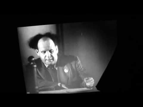 Sergei Eisenstein Speech (in English). Jewish Anti-Fascist Comittee (1941)