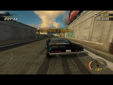 flatout 3 : race 15 (time vs bomb 2) with my car of bullet
