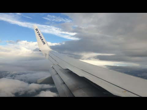 Ryanair EI-FIM Turbulent Heavy Landing At Leeds Bradford Airport From Alicante 31st August