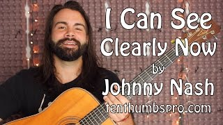 I Can See Clearly Now   Beginner Guitar tutorial with one hard part   Johnny Nash
