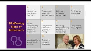 10 warning signs of alzheimer's and dementia