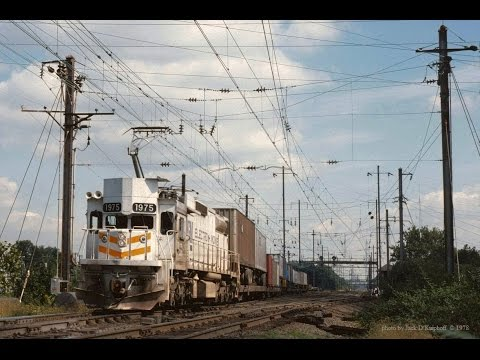 Conrail's one of a kind, EMD GM6C electric locomotive. GM 1975. The only YouTube clip found. 1978