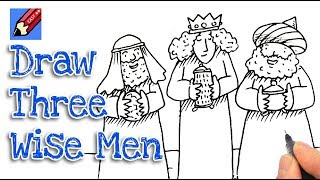 How to DrawThe Three Wise Men Real Easy - Nativity part 2