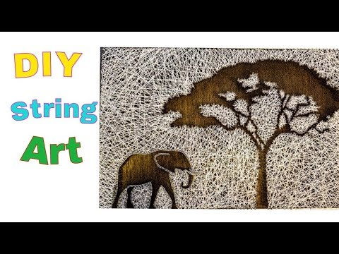 DIY : String Art ( scenery) | how to make string art | how to make string art DIY