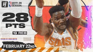 DeAndre Ayton 28 Pts 19 Reb Full Highlights   Suns vs Bulls   February 22, 2020