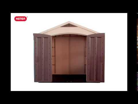keter kunststoff ger tehaus factor 8x6 youtube. Black Bedroom Furniture Sets. Home Design Ideas