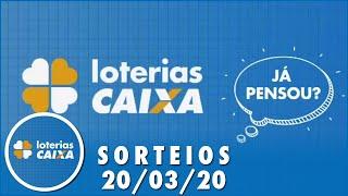 Loterias Caixa: Lotofacil, Quina e mais 20/03
