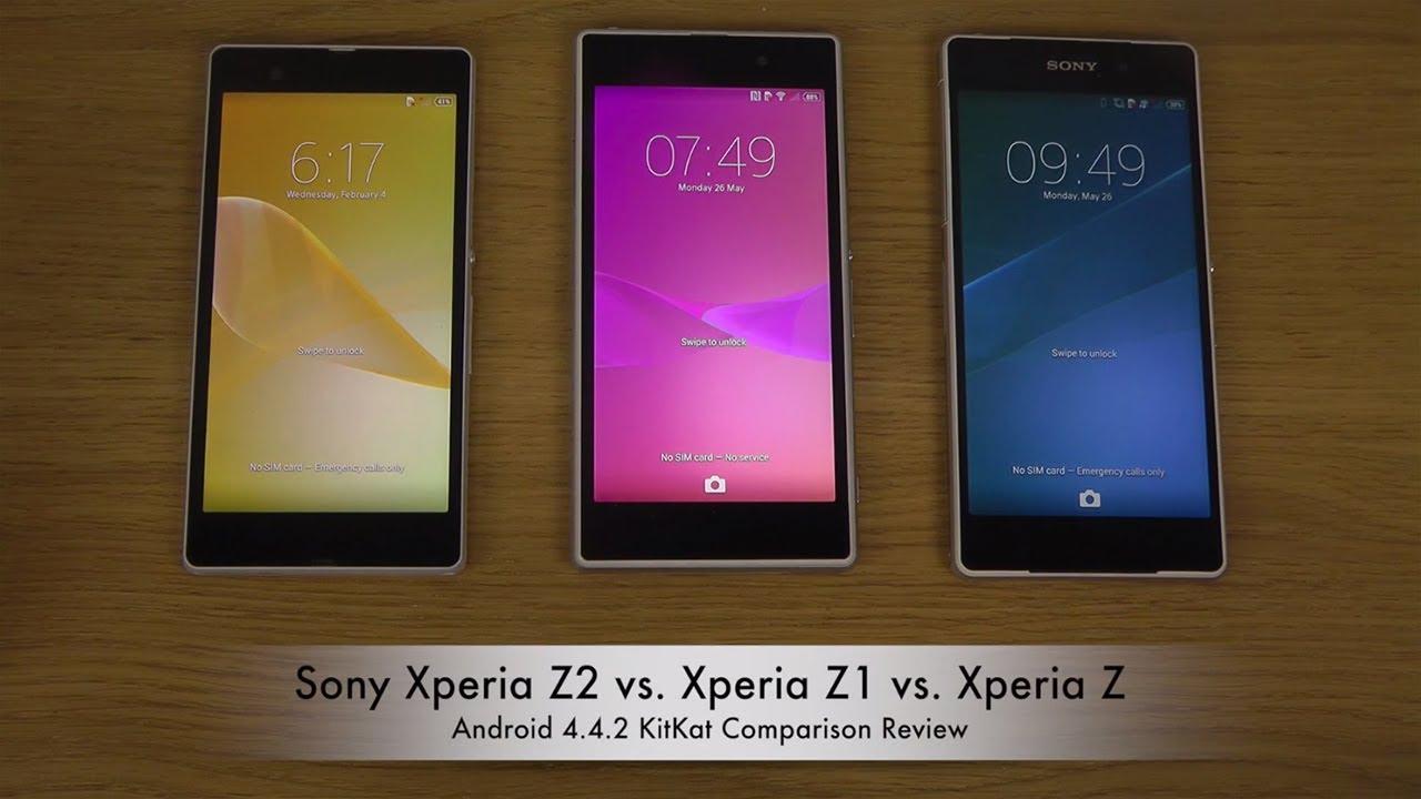 Sony Xperia Z2 vs. Xperia Z1 vs. Xperia Z Android 4.4.2 ...  Sony Xperia Z2 ...