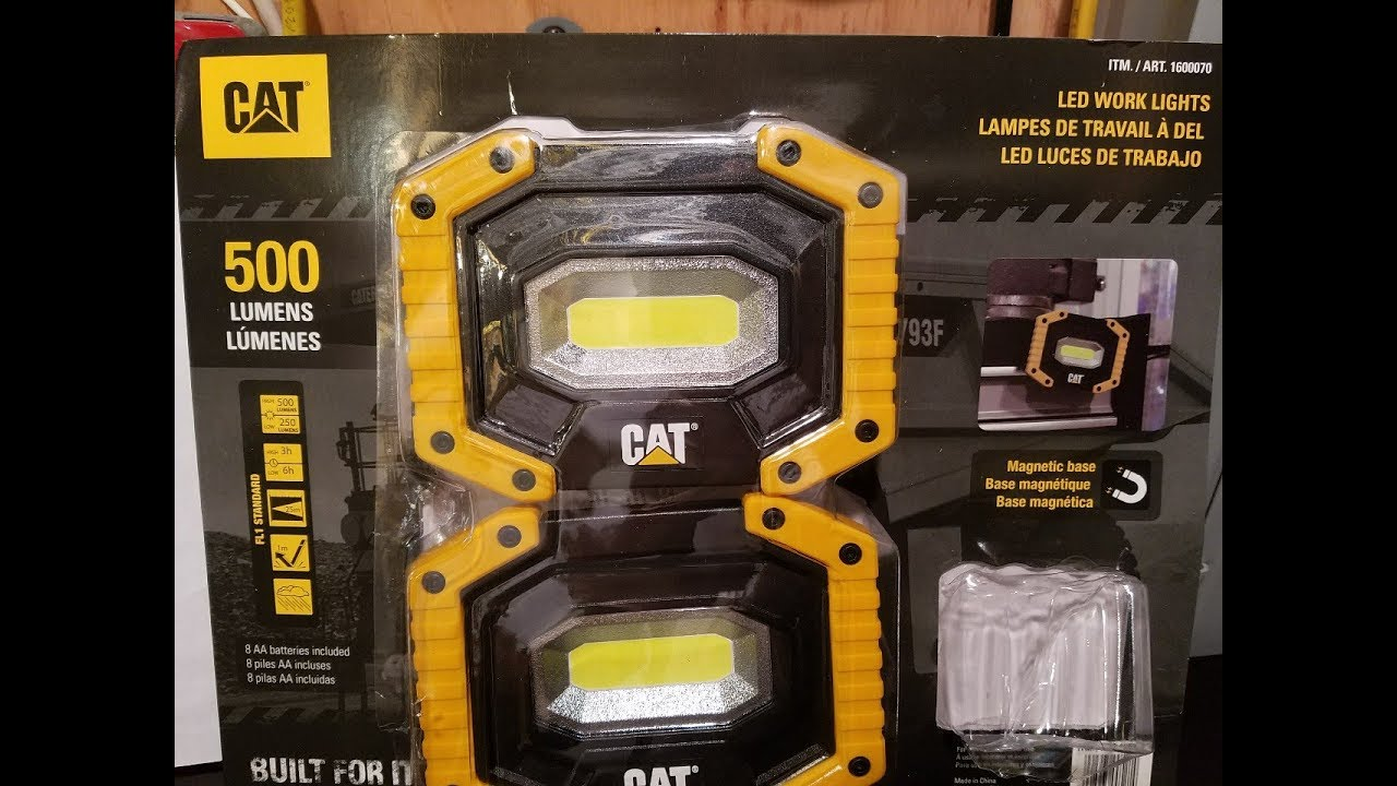 Led Cat Work Lights : Cat led work lights lumens costco deal youtube