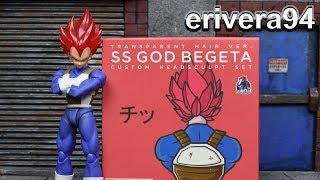 Demoniacal Fit SH Figuarts Dragon Ball Z SUPER SAIYAN GOD VEGETA RED Custom Hair Kit Figure Review
