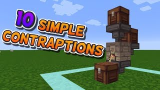 Top 10 Simple Minecraft Contraptions