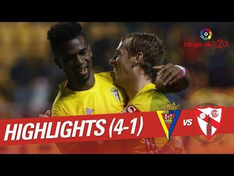 Resumen de Cádiz CF vs Sevilla Atlético (4-1)