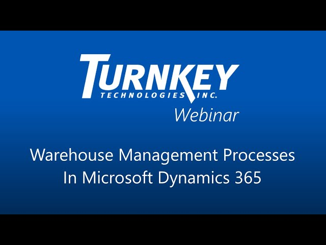 Streamlining Warehouse Management with Microsoft Dynamics 365 and