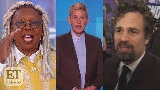 Whoopi, Mark Ruffalo React To Ellen-Bush Friendship