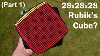 28 x 28 x 28 rubik s cube puzzle part 1