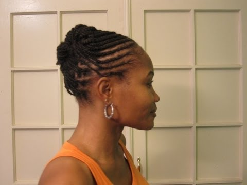 Cornrows & Box braids (Braided Updo Hairstyle) - YouTube