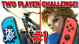 2 PLAYER CHALLENGE | Zelda Breath of the Wild - Eventide Island (Part 1)