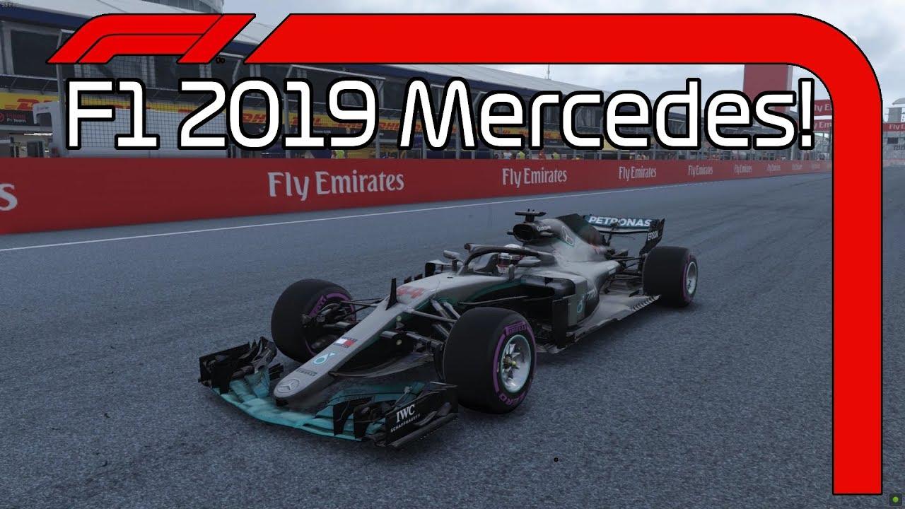 F1 2019 Mercedes F1 2018 Mod Gameplay Youtube