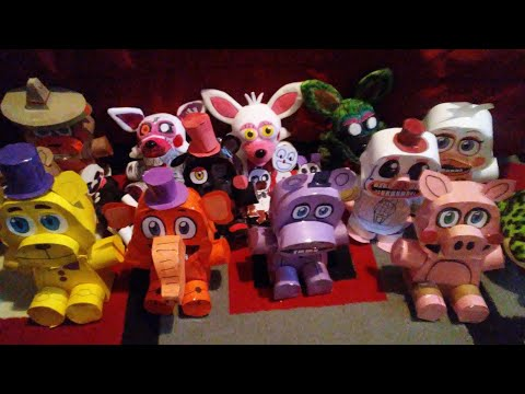 ALL Of my custom FNAF Paper plushies