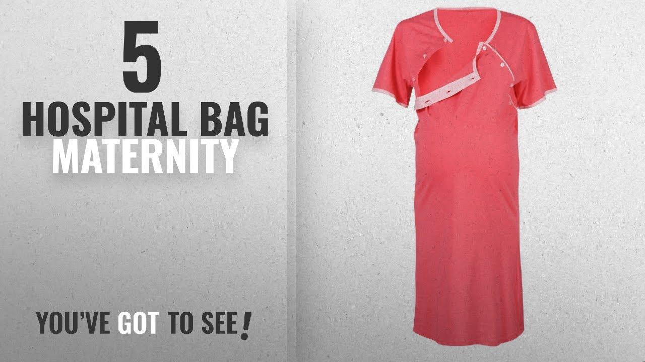 Top 10 Hospital Bag Maternity [2018]: Happy Mama Maternity Gown Robe ...