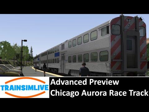 Train Simulator 2015 Preview - Chicago to Aurora RaceTrack - Aurora to Chicago Cab Car