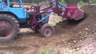 видео Фронтальный погрузчик ПКУ-0