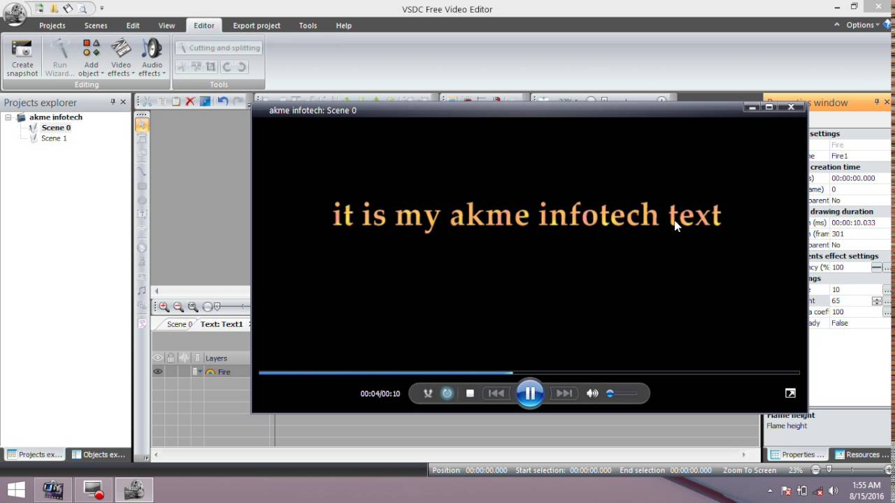 Text effects and looks in vsdc free video editor 2016 in text effects and looks in vsdc free video editor 2016 in ccuart Images