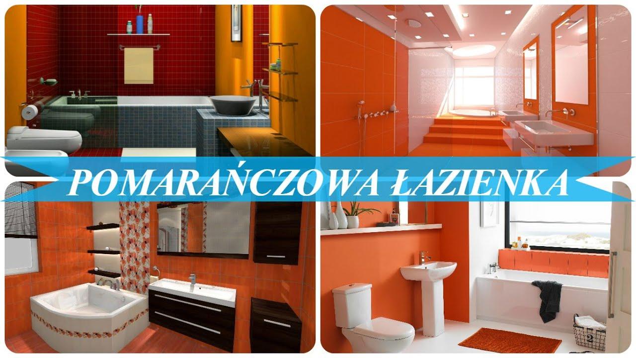 Pomarańczowa łazienka