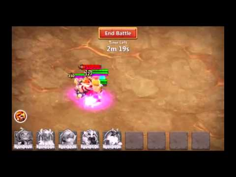Castle Clash #36 Fastest Boss 3 Solo (5 Heros)