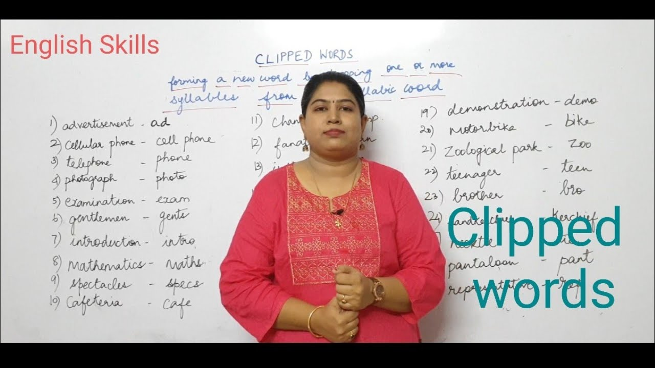 Download English Skills /Clipped words/ english grammar made easy and simple