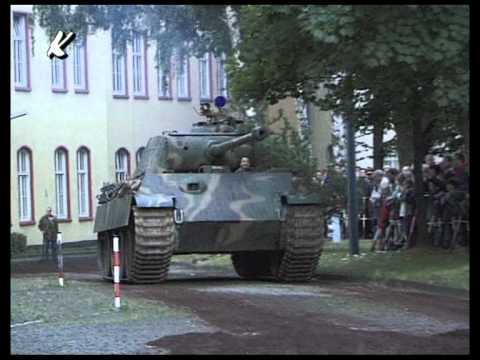 Originaler Panzer Panther in Bewegung Tank WW II in Motion