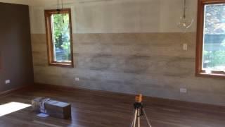 A horizontal wallpaper install