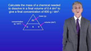 GCSE Science Chemistry (9-1) Concentration of Solutions