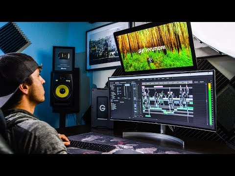 """My NEW Editing Setup!  LG 38"""" UltraWide Curved HDR Monitor Review"""