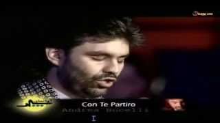 Andrea Bocelli - Con te Partiro - Subtitles English - SD & HD