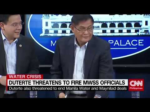 Duterte threatens to fire MWSS officials