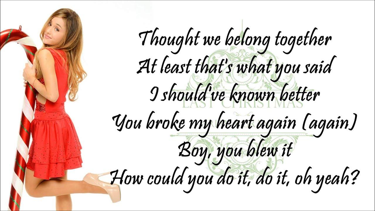 ariana last christmas lyrics