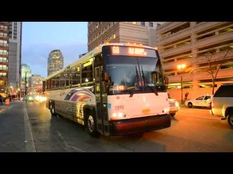 New Jersey Transit 2015 MCI D4500CT CNG 7278 On The 68 @ Christopher Columbus Drive & Grove Street