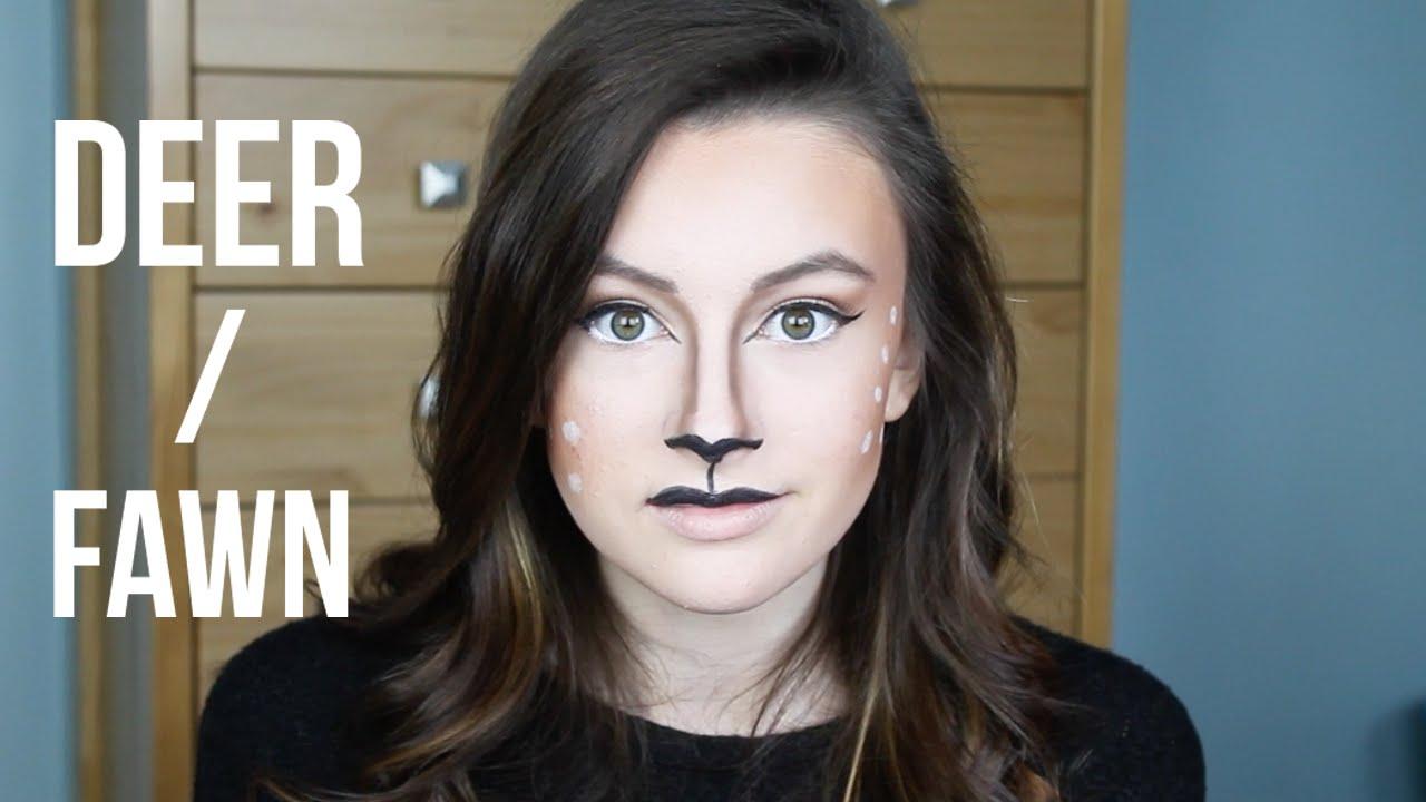 Deer Fawn Makeup Tutorial Using Only Halloween