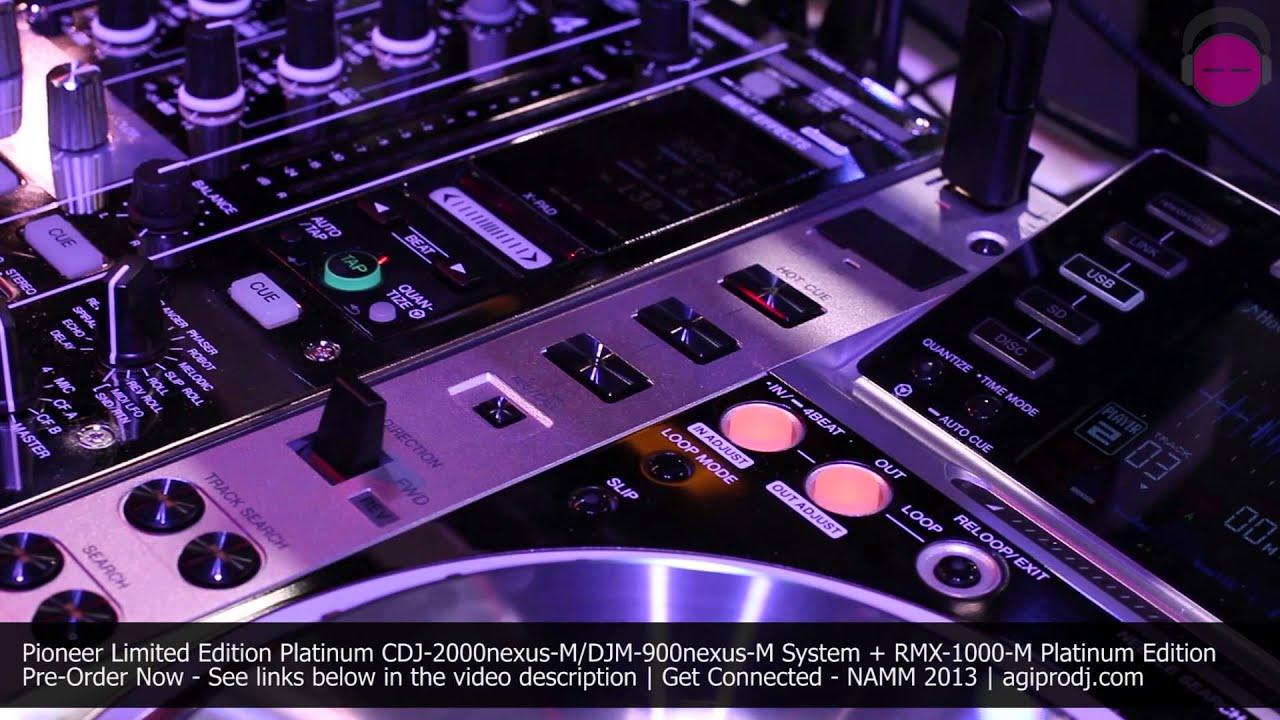 Pioneer Cdj 2000nexus M Djm 900nexus M Platinum Edition