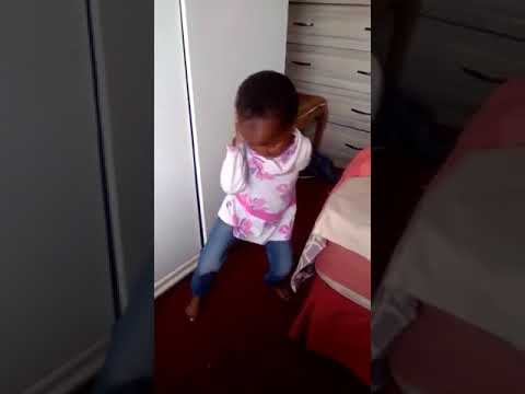 Little African girl dancing