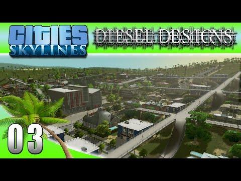 Cities: Skylines: EP03: University District & Custom Beach Asset! (City Building Series 60FPS)