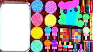 Mixing Makeup, Clay & Foam Into Glossy Slime!! Satisfying Slime Smoothie Video 2019