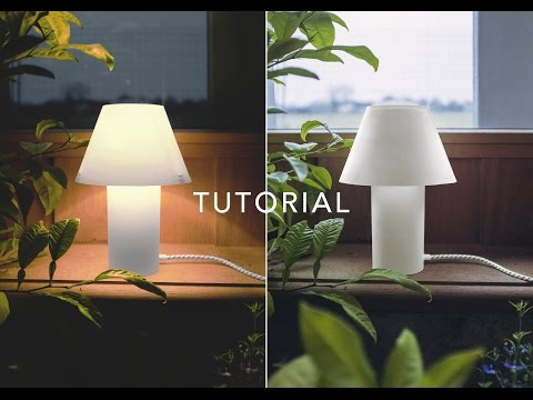 How to make paper table lamp - Tutorial  - Sustainable project - DIY