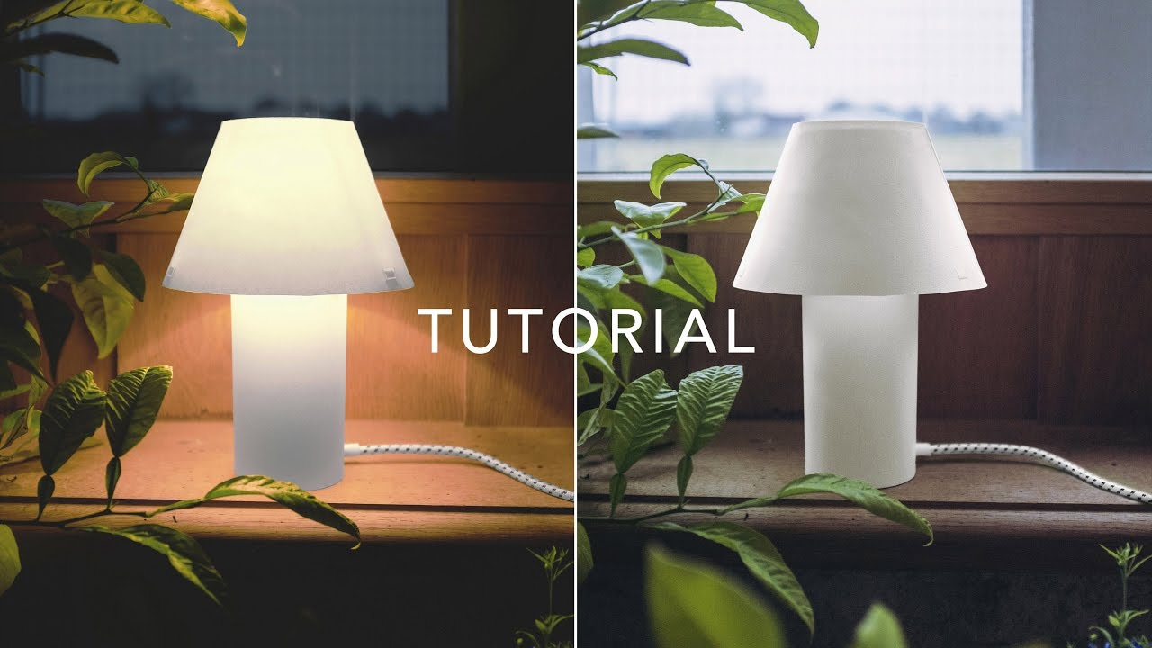 Lovely How To Make Paper Table Lamp   Tutorial   Sustainable Project   DIY