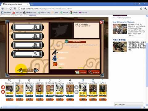 NinjaSaga 1 Hit Kill + XMas Bos Hunting House.mp4